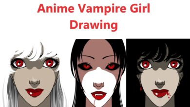 Photo of How To Draw A Vampire Girl From The Back In Stages With Step By Step