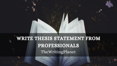Photo of Write Thesis Statement from Professionals